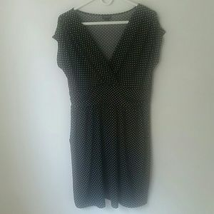 Torrid Dress Black White Polka Dots 0 V Neck